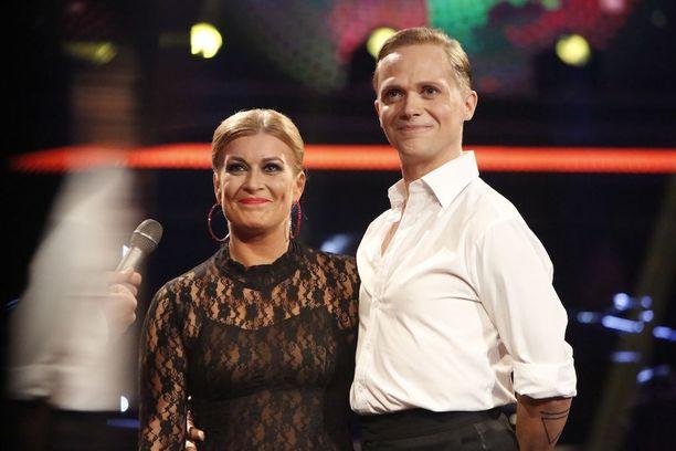 Kirsi-Alm Siira ja Marko Keränen olivat nyt aivan eri tunnelmissa.