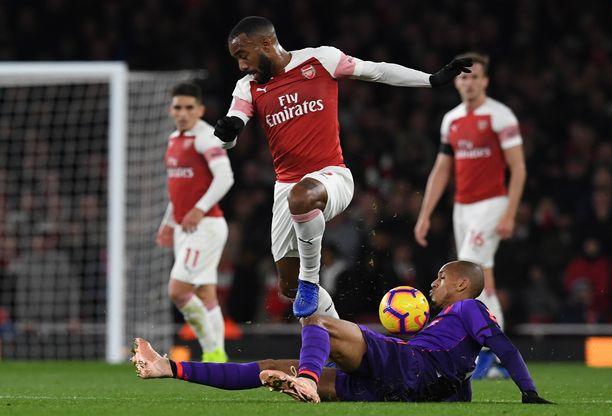 Alexandre Lacazette iski Arsenalin tasoituksen.