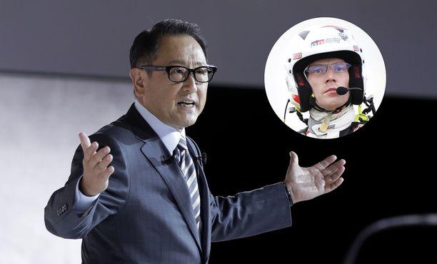 Toyotan pääjohtaja Akio Toyoda lähetti lämpimät terveiset Jari-Matti Latvalalle yhteisistä vuosista.