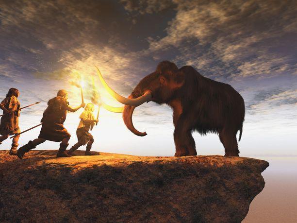 Metsästäjäkeräilijät ilmeisesti saalistivat tietoisesti mammutteja, osoittaa uusi löytö. Kuvituskuva.