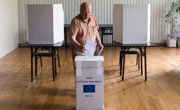 Slovakiassa äänestyspaikoilla oli erittäin hiljaista.