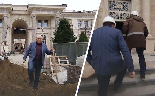 """Venäjän valtiontelevisio päästettiin sisälle Putinin väitettyyn palatsiin – rakennusmies Igor väittää: """"Tämä on huoneistohotelli"""""""