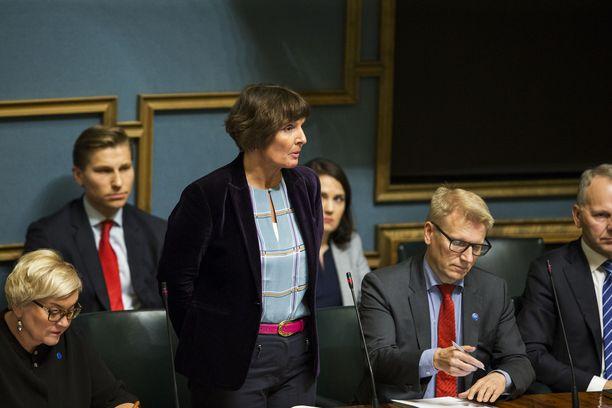 Anne Berner (kesk) toimi Juha Sipilän (kesk) hallituksen liikenne- ja viestintäministerinä.