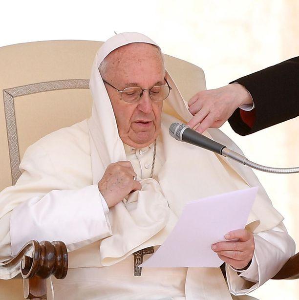 Paavi puhui keskiviikkona Vatikaanissa yleisölle.
