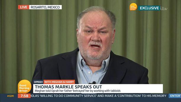 Thomas Markle ei ole ollut tyytyväinen kohuhaastattelun väitteisiin.