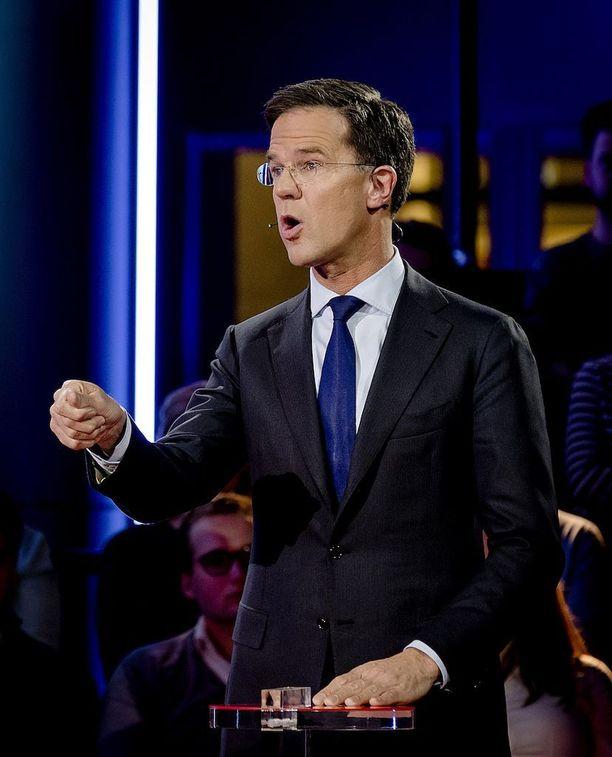 Mark Rutte taistelee pitääkseen pääministerin paikkansa.