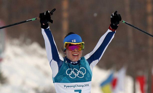 Krista Pärmäkoski avasi olympiaurakkansa vahvasti.