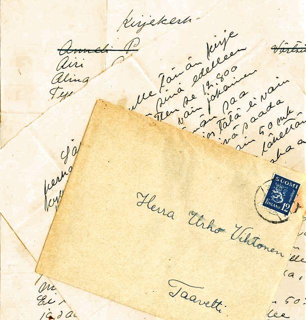 Tämän kirjeen Jarmo Rantakaulio löysi yllätyksekseen postilaatikostaan.