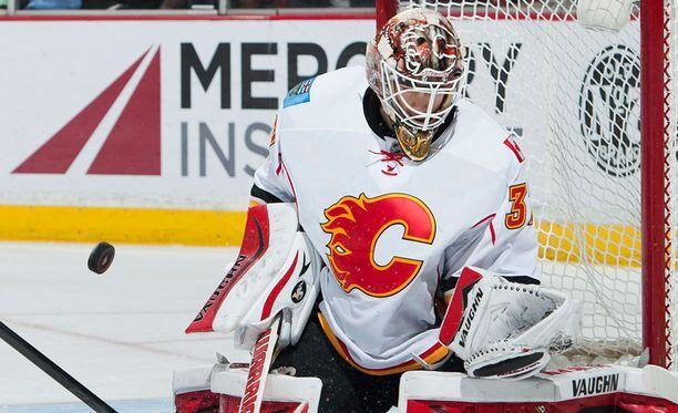 Joni Ortio nostettiin Calgaryn NHL-ryhmään kovassa paikassa.