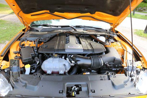Siinä se on: 450 hevosvoimainen V8.