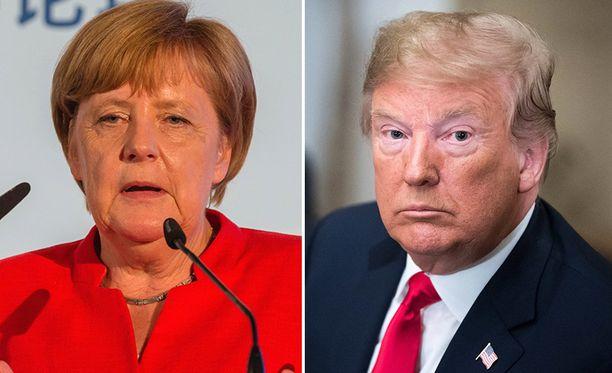 Angela Merkel vastasi Donald Trumpin syytöksiin muistuttamalla kylmän sodan historiasta.
