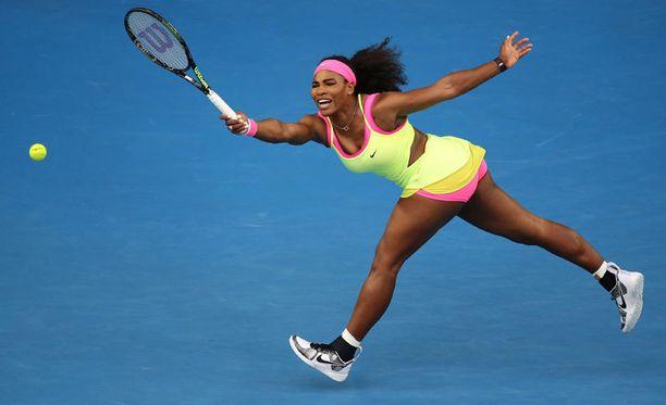 Serena Williamsin asun värimaailma on pirteä.