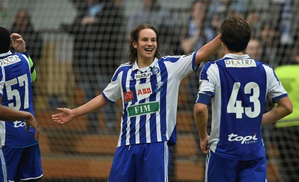 Lassi Järvenpää puski HJK:n liigacupin finaaliin.