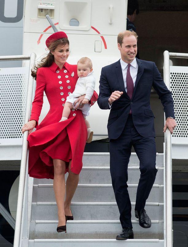 Samassa asussa Catherine näyttäytyi Uuden Seelannin vierailulla 2014.