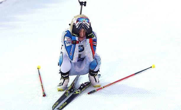 Kaisa Mäkäräinen pyysi moneen otteeseen anteeksi kurjaa kotikisaansa.