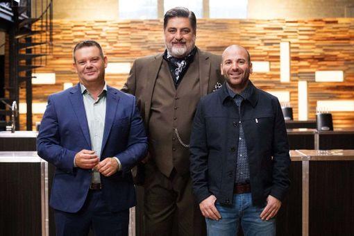 Preston tuomaroi ohjelmassa jo yhdeksättä kautta yhdessä Gary Mehiganin (vas.) ja George Calombarisin kanssa. Kymmenennen tuotantokauden kuvaukset ovat juuri alkaneet.