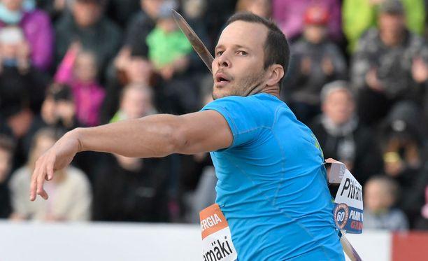 Tero Pitkämäki heitti neljänneksi Pariisissa.