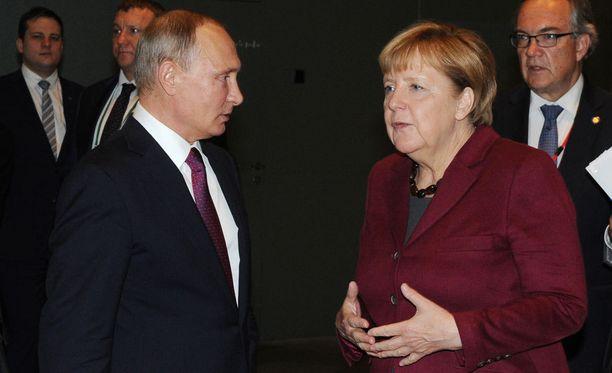 Vladimir Putin ja Angela Merkel tapasivat viime lokakuussa Berliinissä.