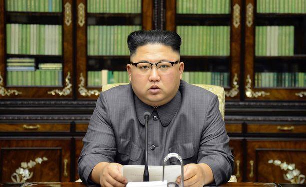 Pohjois-Korean ulkoministeri Ri Yong Ho syyttää Yhdysvaltain presidenttiä Trumpia sodanjulistuksesta. Kuvassa maan johtaja Kim Jong-un.