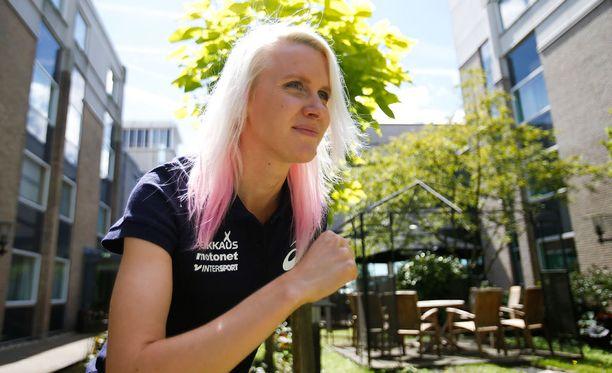 Sandra Erikssonilla on mahdollisuudet mitaliin 3000 metrin esteillä.