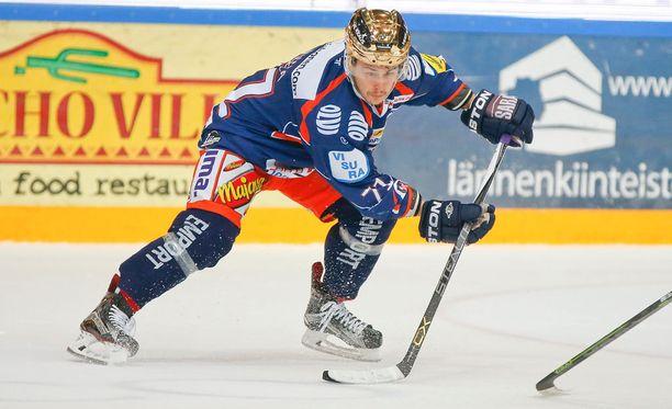 Kristian Kuusela vei Tapparan 3-0-johtoon. Arkistokuva.
