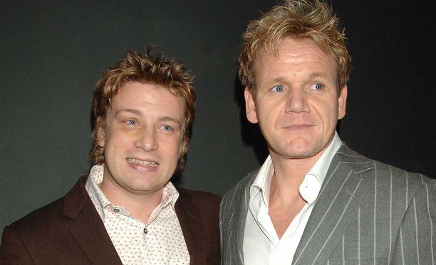 Vielä vuonna 2005 Jamie Oliver ja Gordon Ramsay tulivat toimeen keskenään.