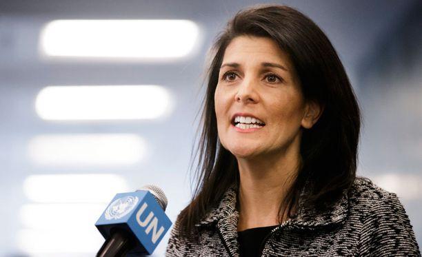 Yhdysvaltain tuore YK-suurlähettiläs Nikki Haley.