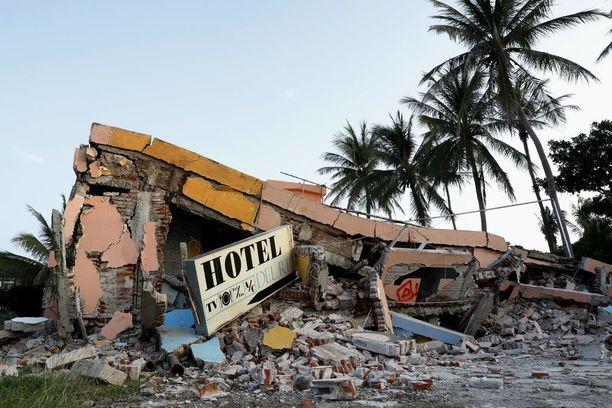Järistyksessä taloja tuhoutui täysin käyttökelvottomiksi.