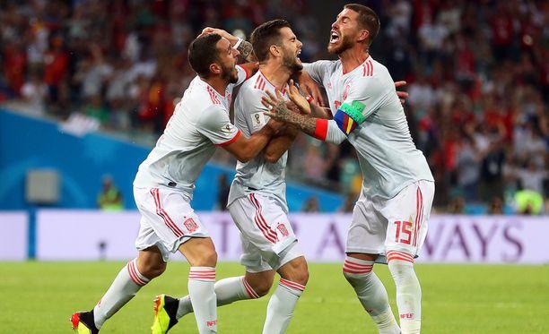 Nachon maali aiheutti juhlan, mutta ei vienyt Espanjaa voittoon.