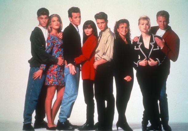 Alkuaikojen Beverly Hills 90210 sellaisena kuin me sen muistamme.