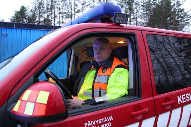 Pauli Nurminen on päivystävä päällikkö Keski-Suomen pelastuslaitoksella.