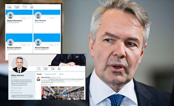 Pekka Haaviston kampanja teki joulukuussa suojelupoliisille ilmoituksen yli 1700 yhtäkkiä ilmestyneestä epämääräisestä Twitter-seuraajasta. Seuraajia epäiltiin boteiksi, ja ne on sittemmin poistettu.