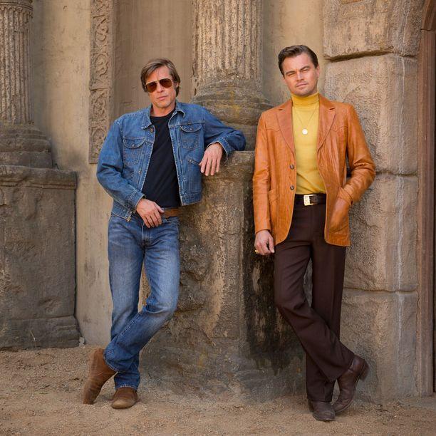 Brad Pitt ja Leonardo DiCaprio näyttelevät yhdessä Once Upon a Time in Hollywood -uutuuselokuvassa.