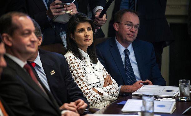 Yhdysvallat esti YK:n turvallisuusneuvoston lausunnon, jossa vaadittiin itsenäistä tutkintaa Gazan tilanteesta. Kuvassa Yhdysvaltain YK-suurlähettiläs Nikki Haley.