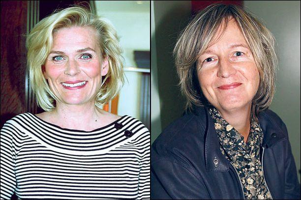 Suosikkinäyttelijä Pirkko Hämäläinen, 51, ja kirjailija-tutkija Kirsti Simonsuuri, 64, ovat ystäviensä mielestä hyvä pari.