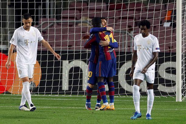 Barcelona voitti Ferencvarosin 5–1.