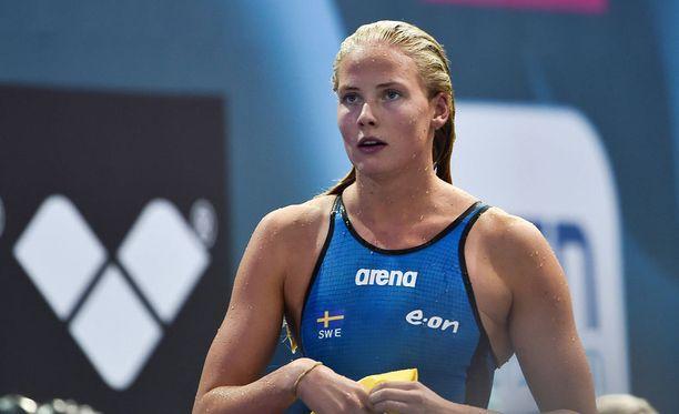Michelle Coleman suljettiin toistaiseksi Ruotsin uintimaajoukkueesta. Kuva vuodelta 2014.
