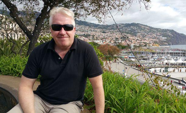 Veikko Vallin viihtyy Madeiralla.
