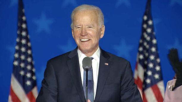 Joe Bidenilla on aihetta optimismiin yön kirimisen jälkeen.