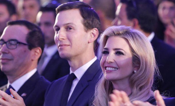 Presidentti Donald Trumpin tytär Ivanka Trump ja hänen aviomiehensä Jared Kushner ovat saapuneet Jerusalemiin.