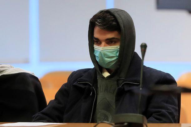 Syytetty Alberto Sanchez oikeudessa Madridissa 21. huhtikuuta.