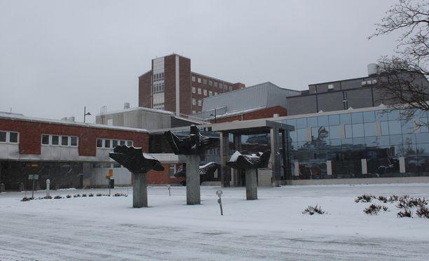 Hoitajat työskentelivät Keski-Suomen keskussairaalassa.