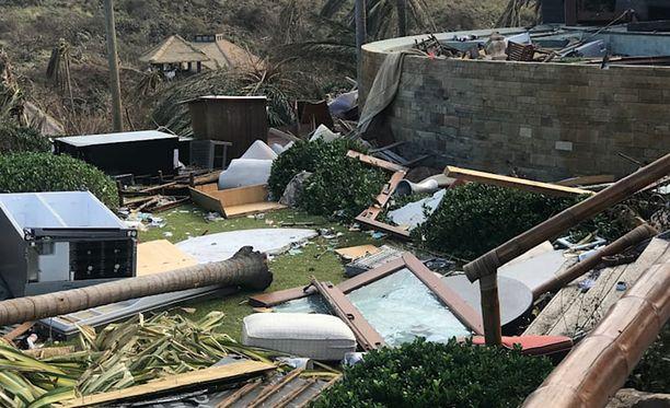 Henkilökunnan majoutusrakennus kärsi pahoja vaurioita.