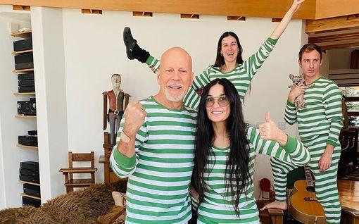 Demi Moore vietti karanteenia ex-miehensä Bruce Willisin kanssa – paljastaa nyt syyn