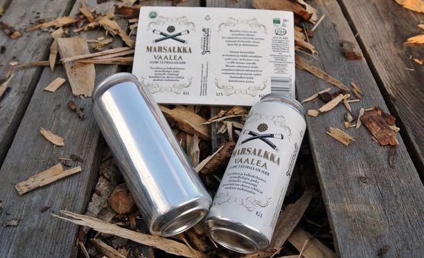 Marsalkka Vaalea Luomu on ensimmäinen tuote, jossa Saimaan juomatehdas hyödyntää innovaatiota.