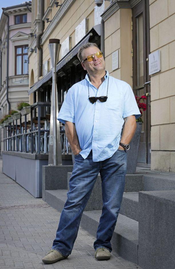 JOT Automationin perustajan Veikko Lesosen tyylinäyte kesällä 2014. KUVA: PEKKA KARHUNEN/KL.