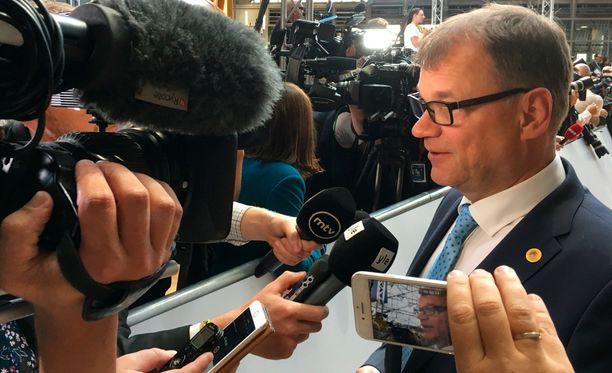 Pääministeri Juha Sipilä (kesk) osallistuu torstaina ja perjantaina EU:n huippukokokseen Brysselissä.