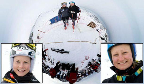 Sanni Leinonen ja Tanja Poutiainen lähtevät viikonloppuna täysillä radalle.