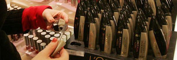 Kosmetiikkatuotteet ovat suosittuja myymälävarkaiden keskuudessa.