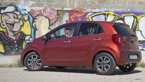 Kippari-Kalle (graffitissa) saa voimaa pinaatista. Voimaa tarvitsisi myös pienin 3-sylinterinen moottori Picantossa.